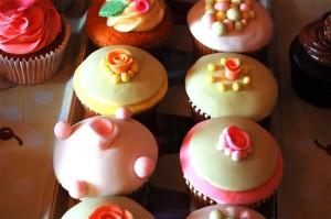 Cupcakes vibrant vintage fair