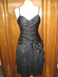 black lace dress £50