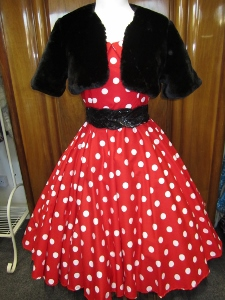 Red polka dot dress £50