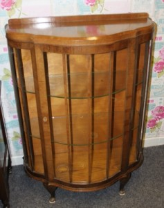 vintage cabinet with glass shelves £65