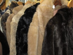Vintage faux fur coats £20
